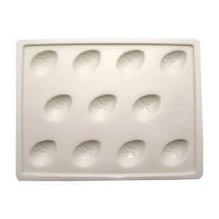 Chocolate Mould, Eggs, 240x182x16mm, 10pc