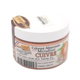Food Colouring, Copper, 25g