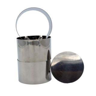 Mousse Frame, Set, Stainless Steel, Round, With Pusher, 4.5x7cm