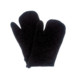Baking Gloves, Cotton, Black, 30x17cm