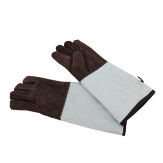 Baking Gloves, With Cuffs, Leather, 5 Fingers, 45x14cm