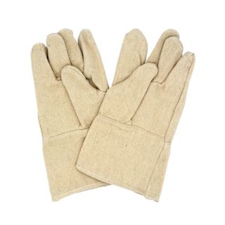 Baking Gloves, With Cuffs, Leather, 3 Fingers, 34x15cm