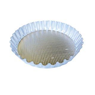 Fruit Flan Pan, Aluminum, Silver, 22x18x4.5cm