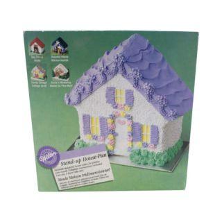 Cake Pan, House, Aluminum, 9.5 x 23 x 7.5 cm