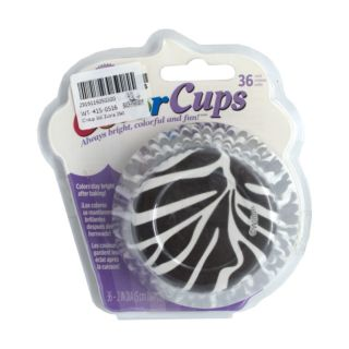 Cupcakes Liners, Zebra, 36 pcs