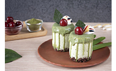 กลูเตนฟรี สปองจ์เค้ก – มัทฉะ เลเยอร์เค้ก